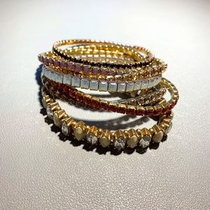 Swarovski Stackable Lightning Bracelets Multicolor